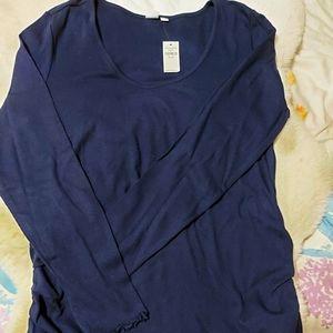 Gap Maternity Navy long sleeves top XL NWT